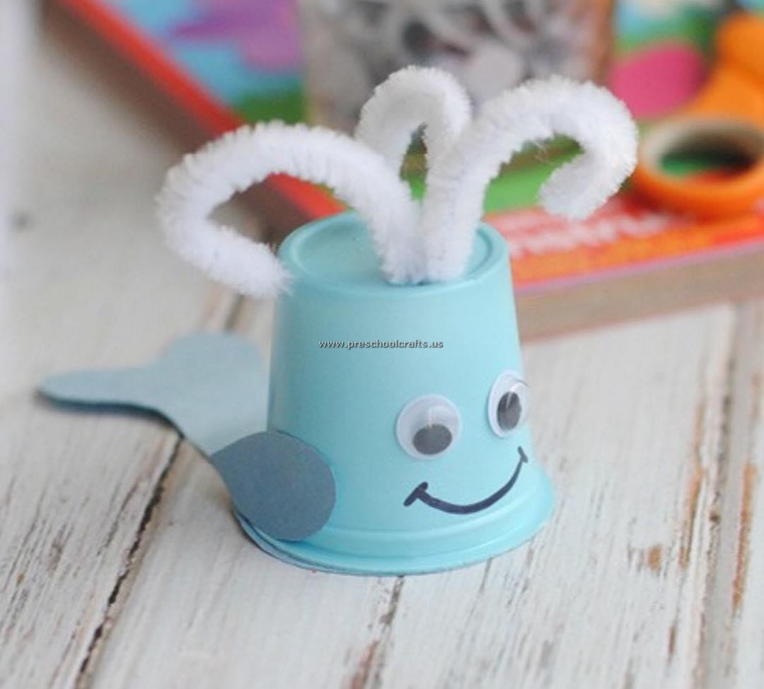 Whale Crafts Ideas With Paper Cup