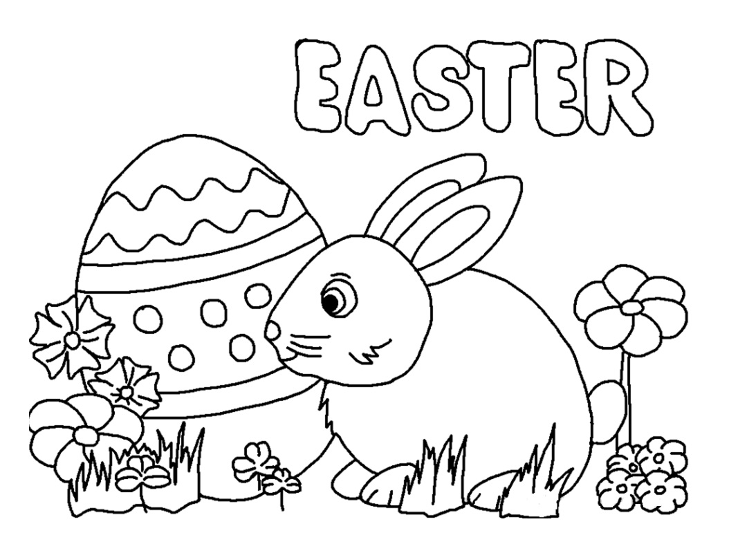 Easter Bunny Egg Coloring Pages
