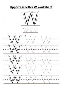 Uppercase Letter W Worksheet Free Printable