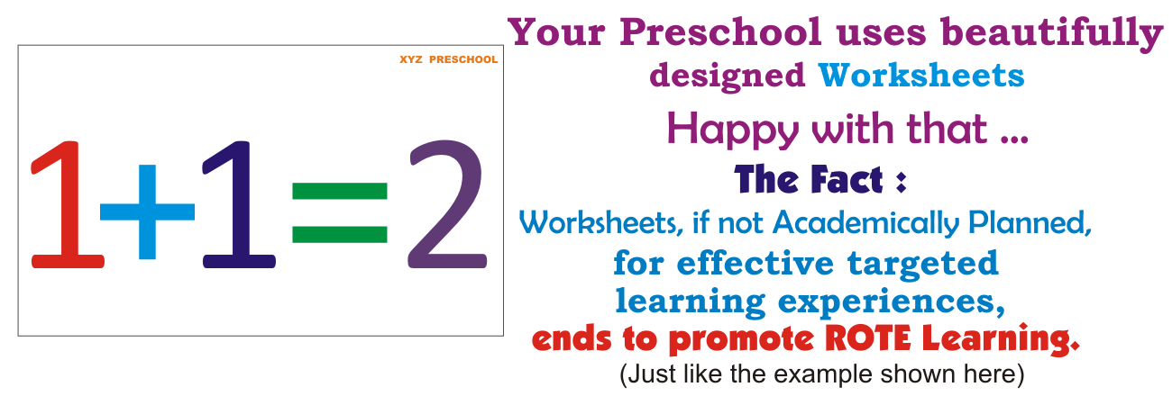 Developmentally Appropriate Practices and Preschool Worksheets