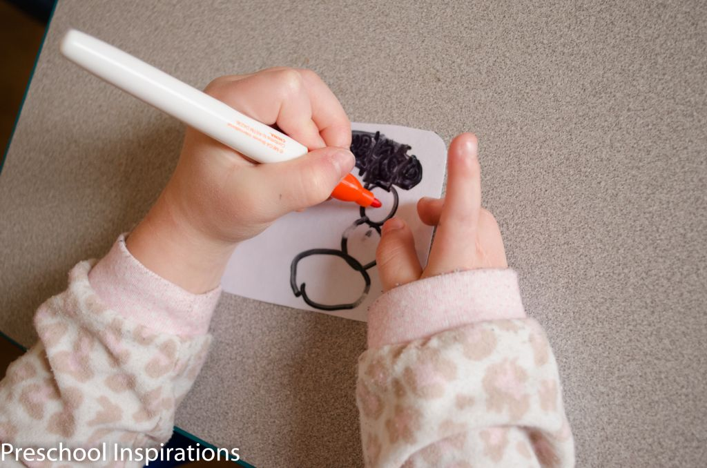Winter Writing Center Name Tags by Preschool Inspirations-4