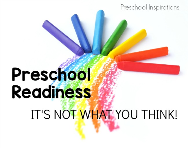 Preschool Readiness -- It's Not What You Think!