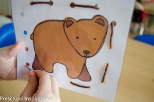 Brown Bear Lacing Busy Bag-3
