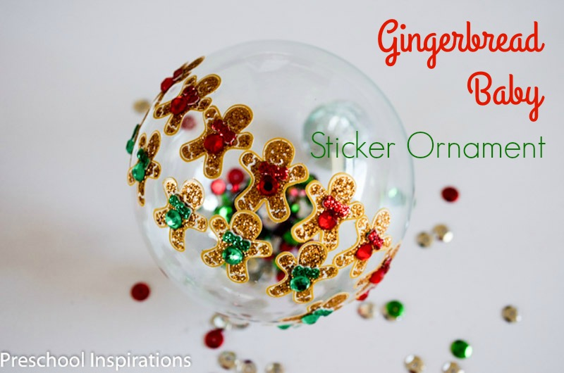 Gingerbread Baby Christmas Ornament by Preschool Inspirations