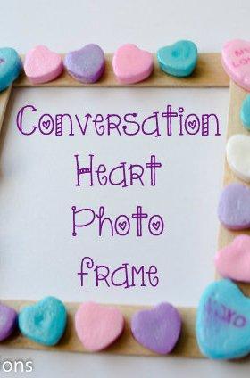 Conversation Heart Photo Frame