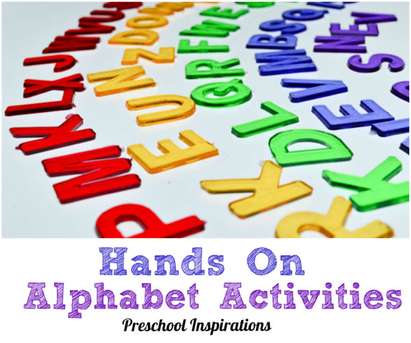 6 Hands On Alphabet Activities by Preschool Inspirations