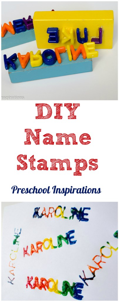 DIY Name Stamps by Preschool Inspirations