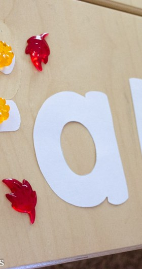 Fall Alphabet Jewel Fine Motor Practice
