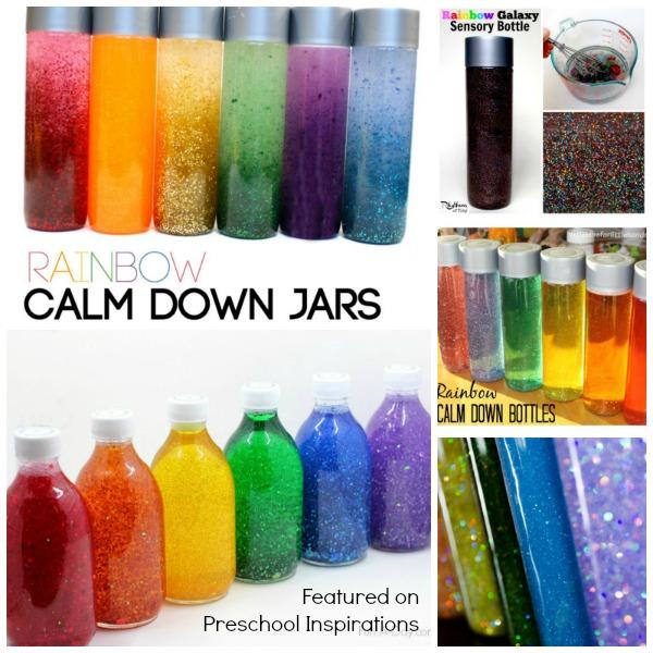 Amazing Rainbow Sensory and Discovery Bottles