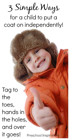 3 Simple Ways for Children to Put Coats On
