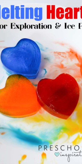 Melting Hearts Color Exploration and Ice Play