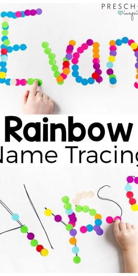 Rainbow Name Tracing Activity