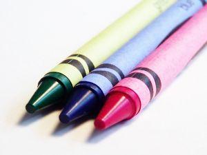 Preschool science experiment melting crayons.