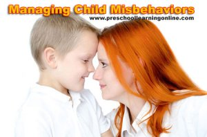 Positive parenting advice for managing child misbehavior.