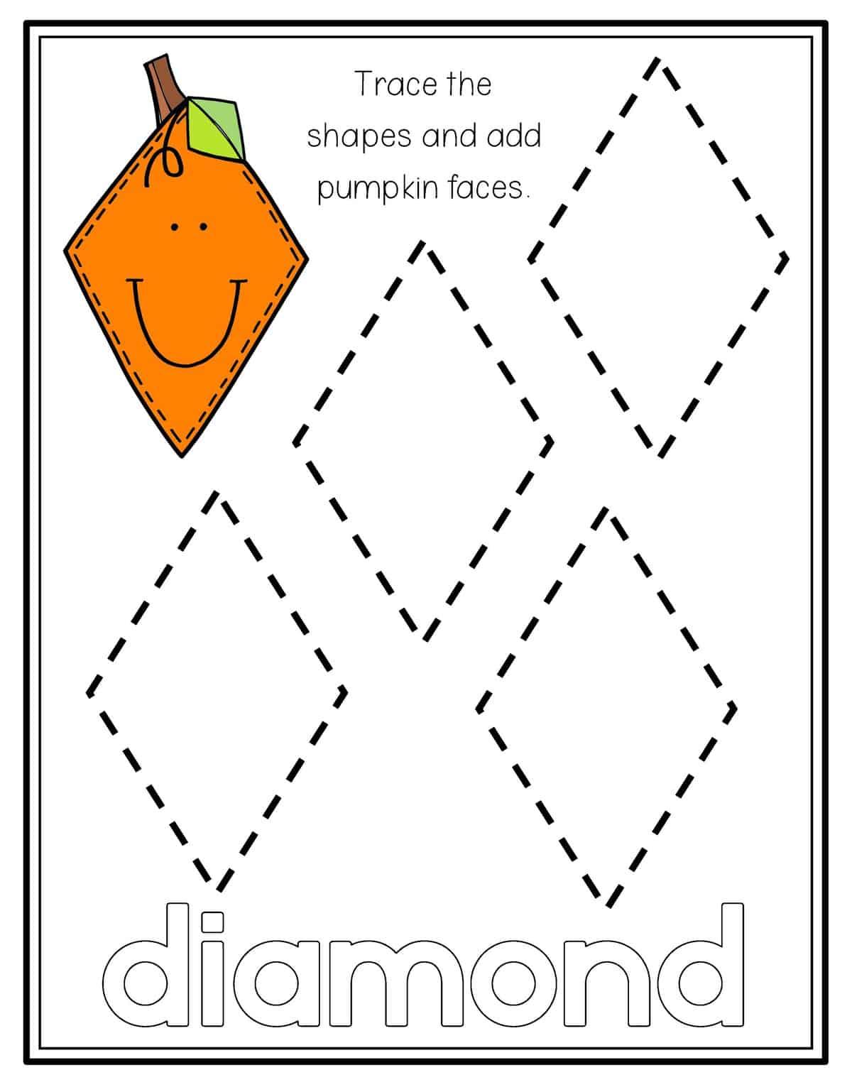 Diamonds For Free Preschool Worksheet