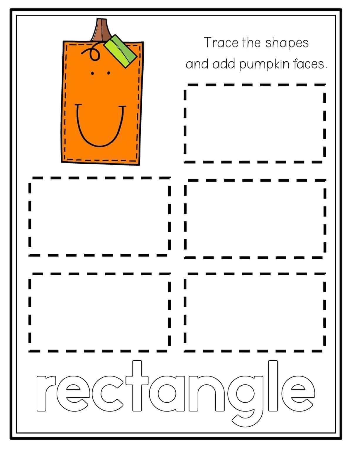 Diamond Shape Tracing Worksheets Preschool