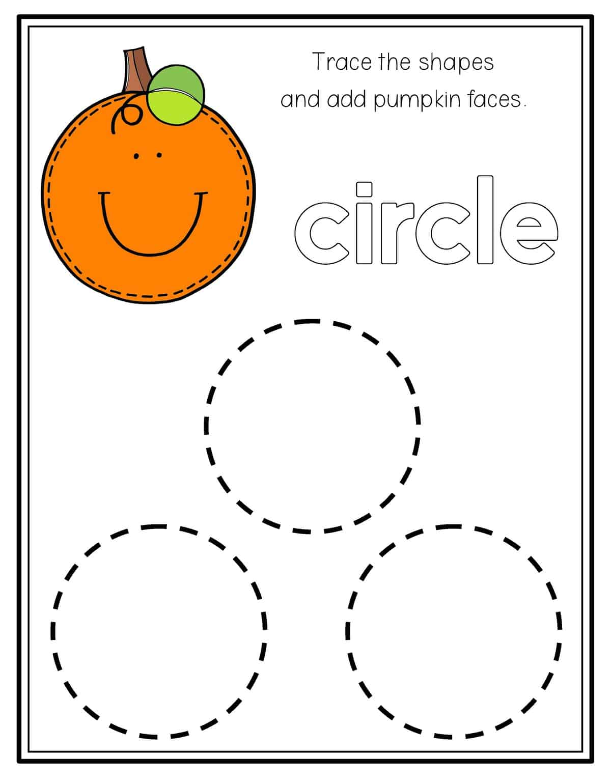 Preschool Shape Worksheet