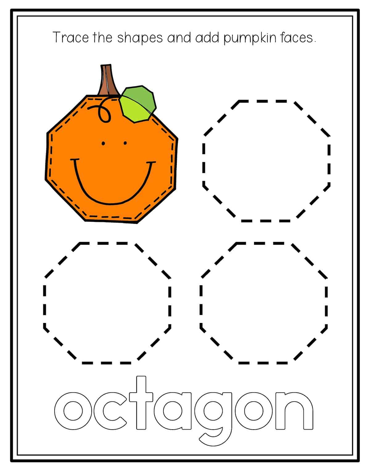 Pumpkin Shape Tracing