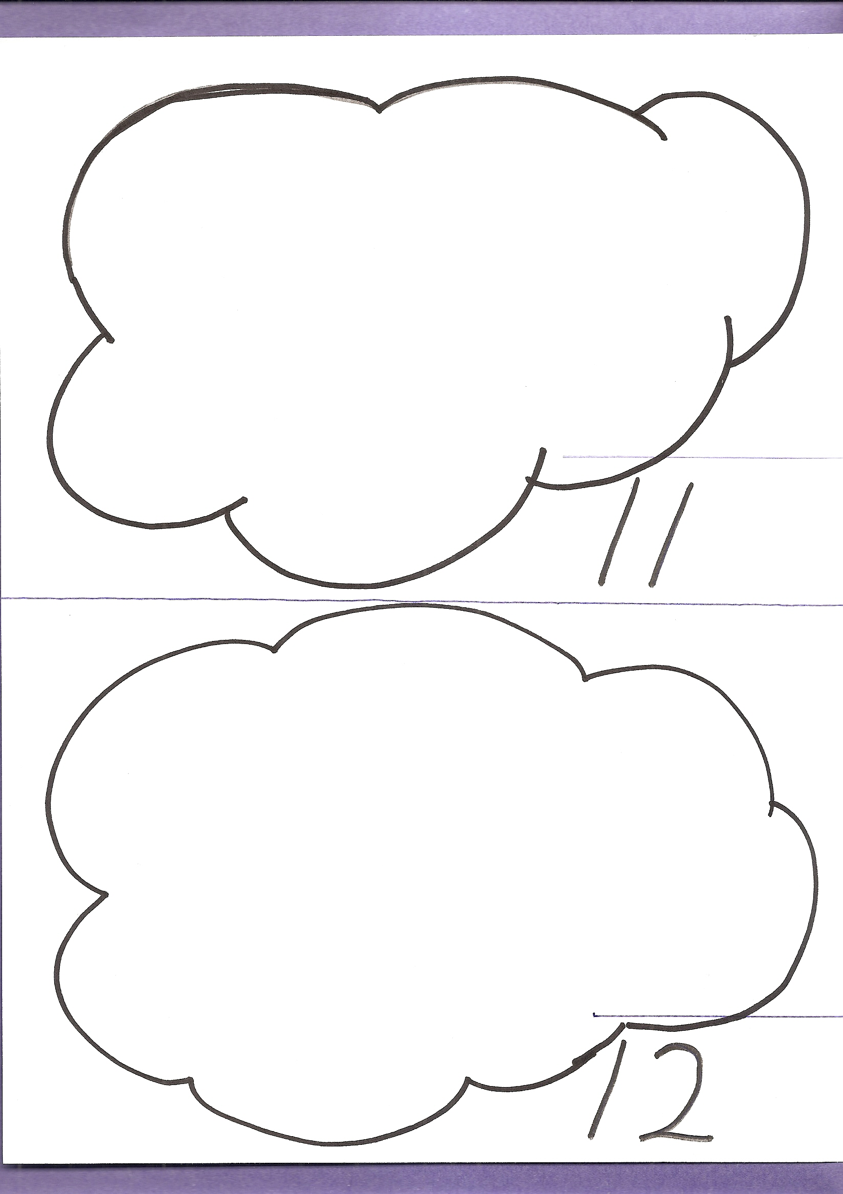 Counting Clouds Worksheet