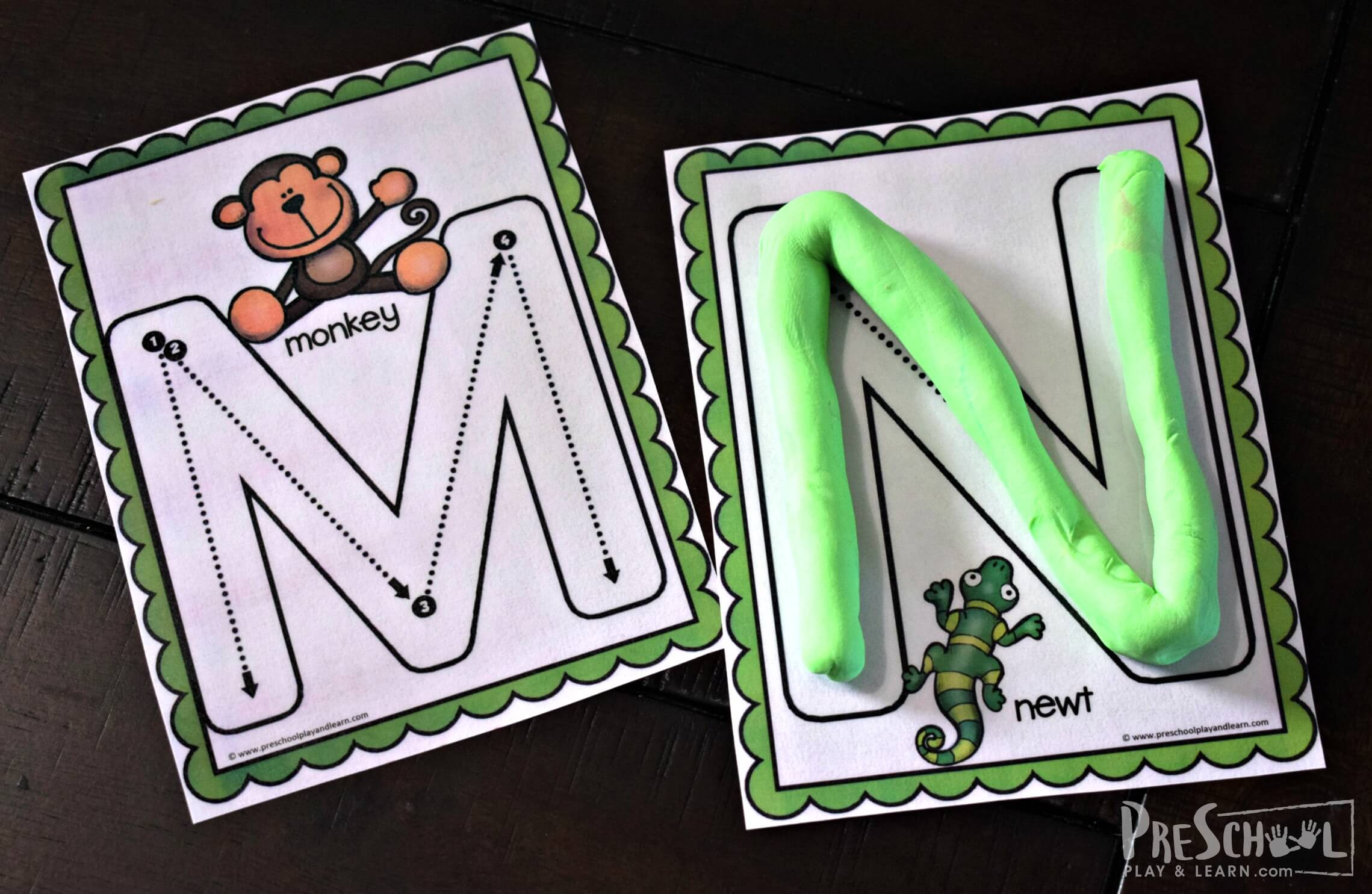 Free Animal Uppercase Letter Tracing A Z