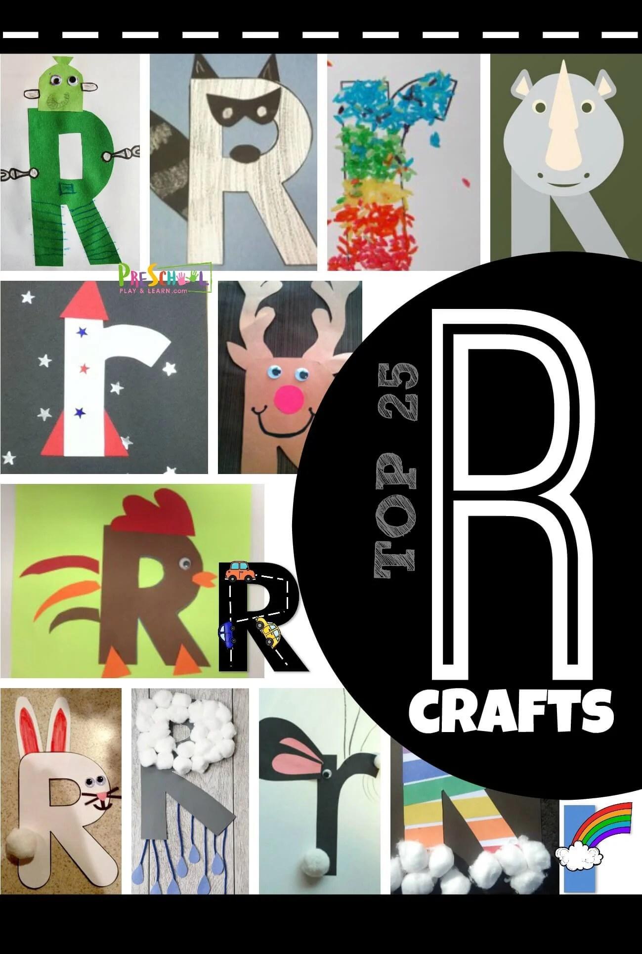 Top 25 Letter R Crafts