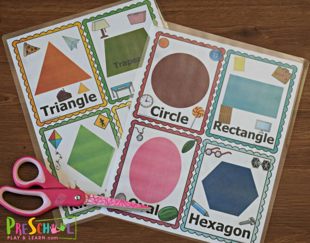 Free Shape Flashcards Scavenger Hunt