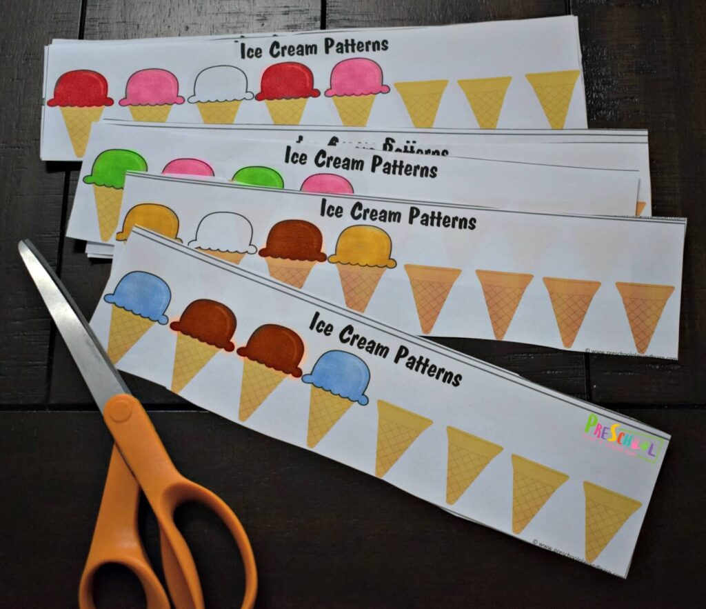 Free Ice Cream Patterns Printable For Kids