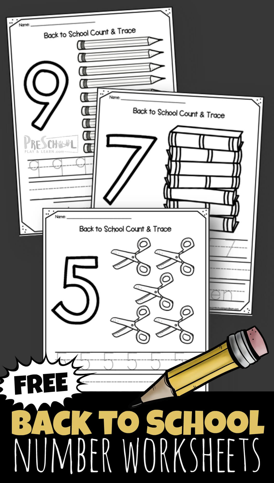 Free Back To School 1 10 Number Worksheets