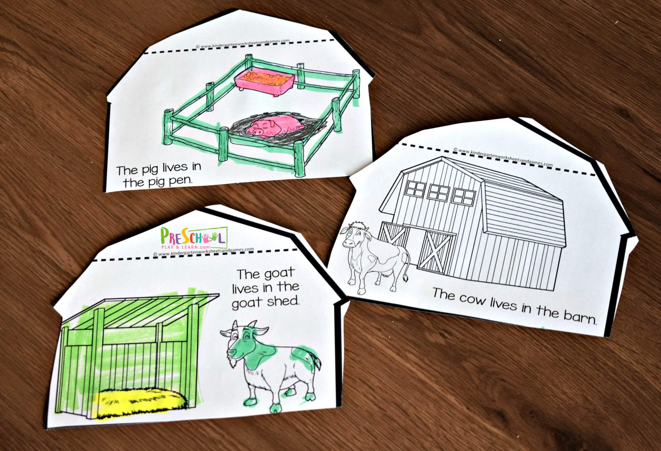 Free Farm Animals And Their Homes Flipbook