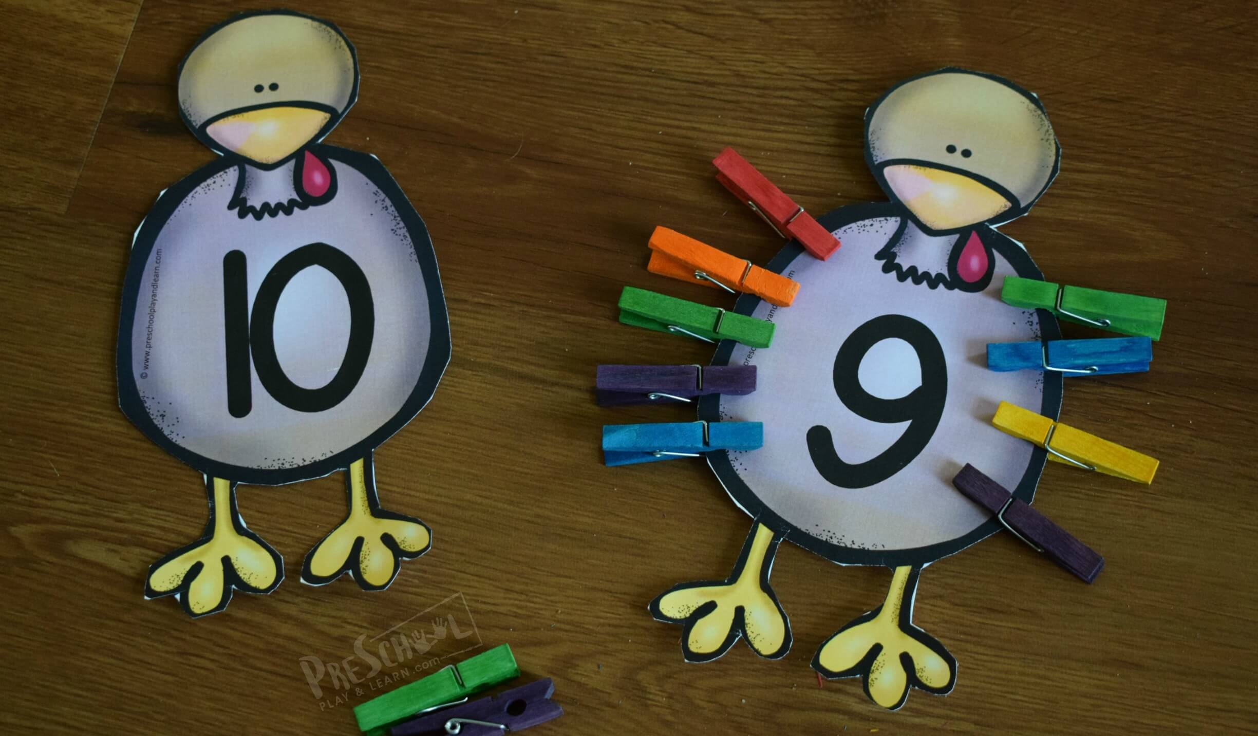 Free Turkey Math Craft