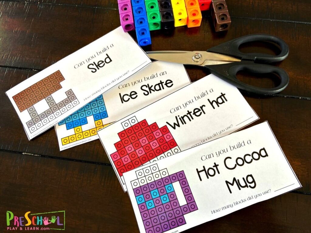 Free Winter Snapcube Printables