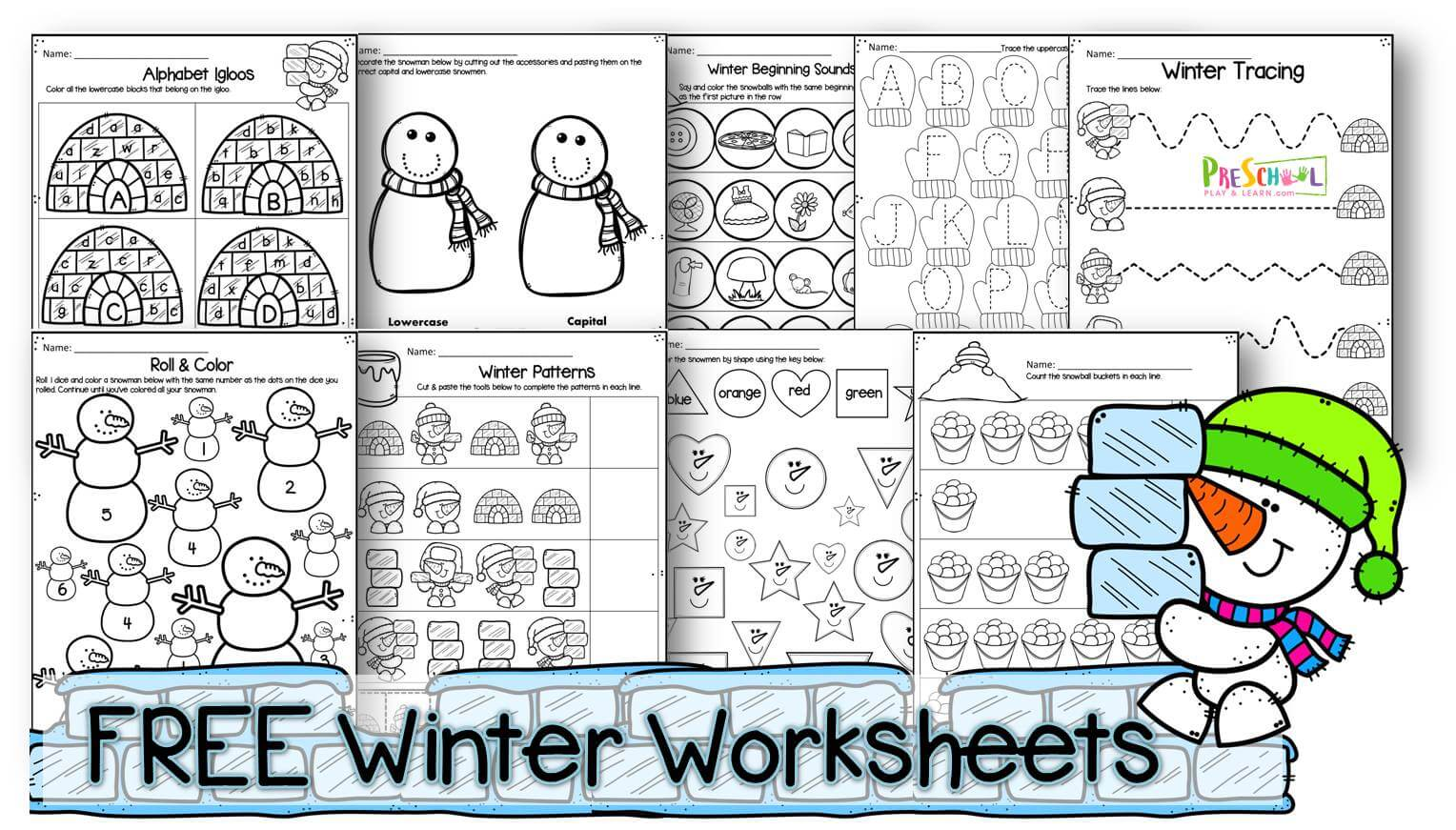 Winter Worksheets For Preschool