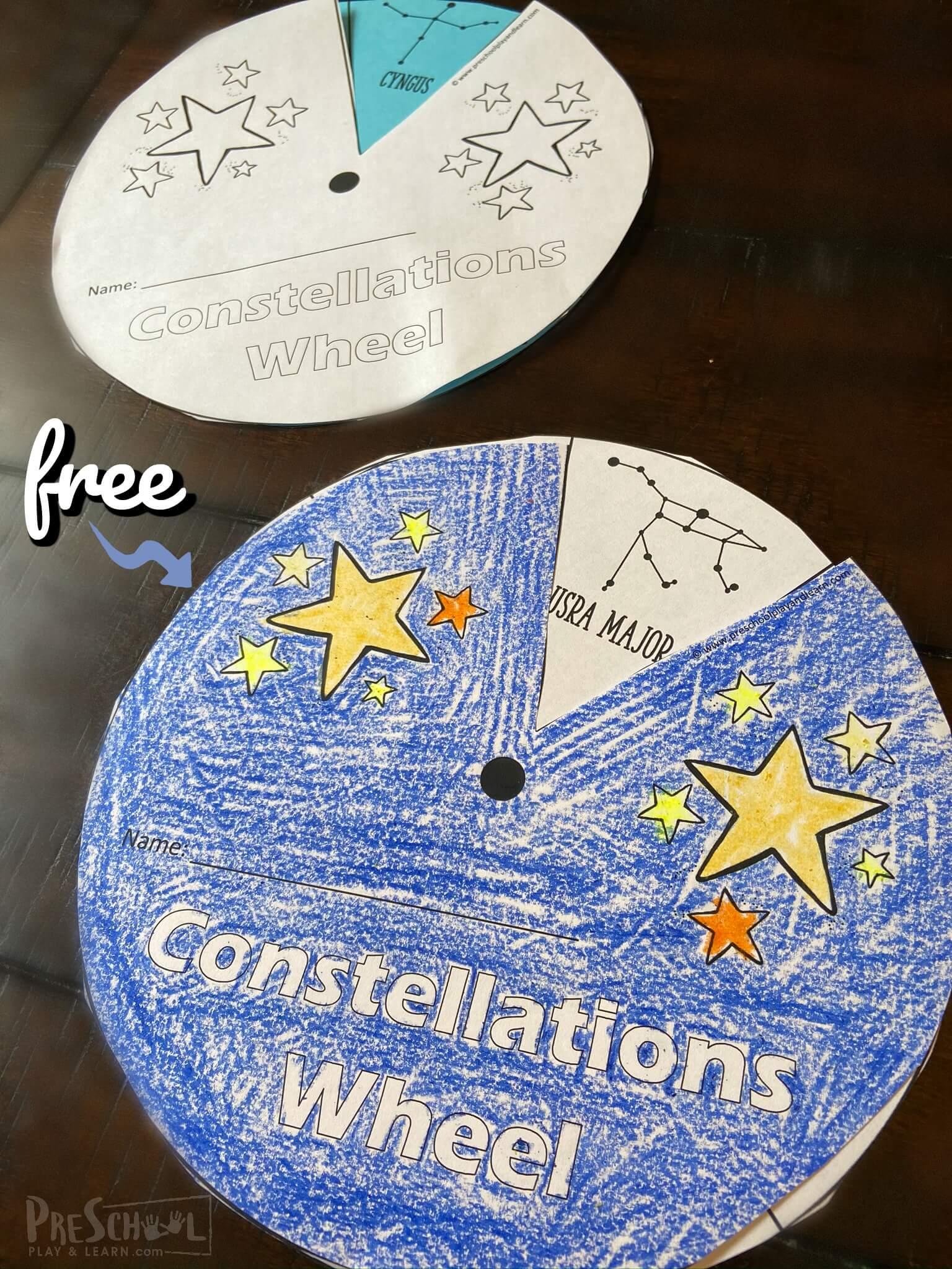 Free Constellations Printable Wheel