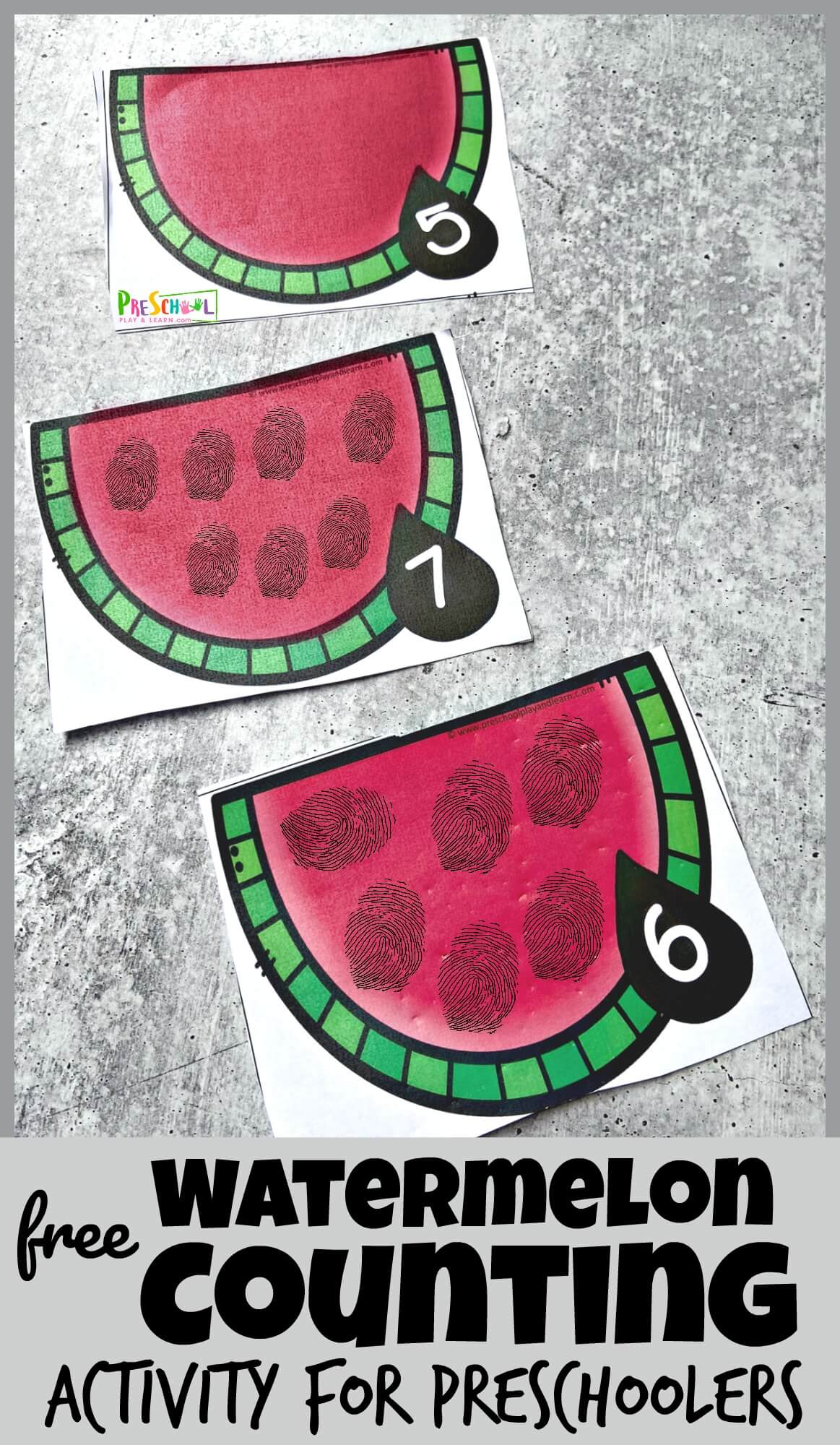 Hands On Watermelon Counting Activity