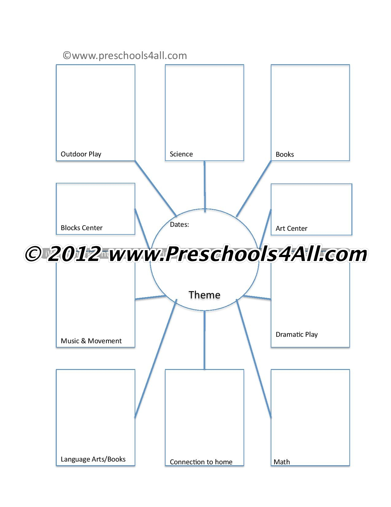 Preschool Lesson Plan Template