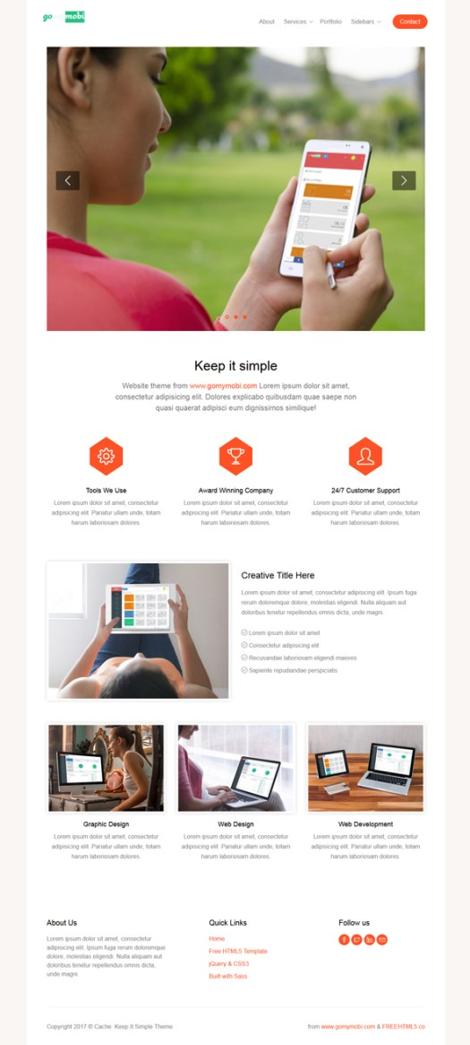 gomymobiBSB's Site Theme: Cache - Keep It Simple - 2