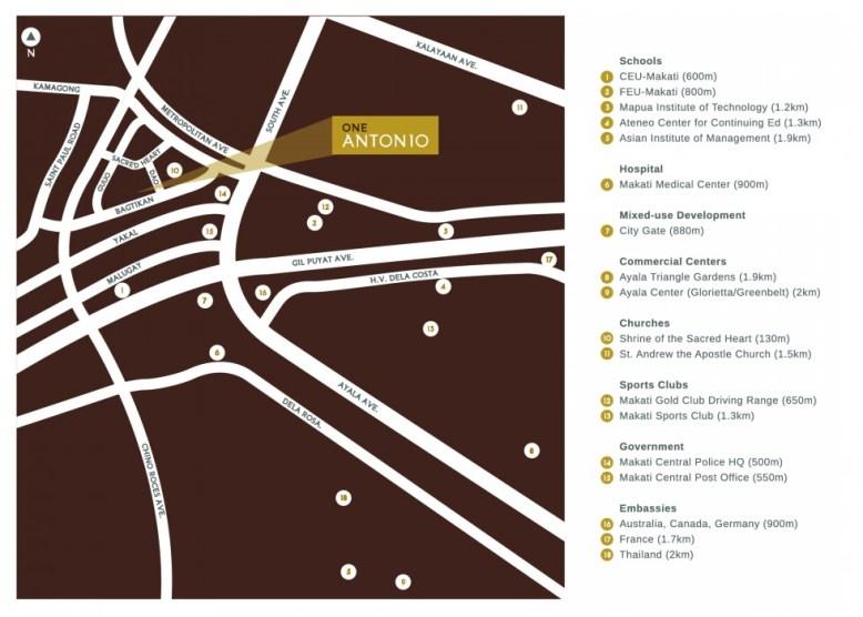 One Antonio Vicinity Map