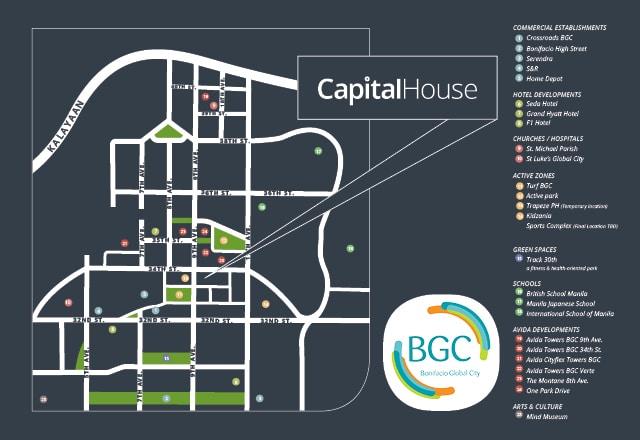 Capital House Location Map
