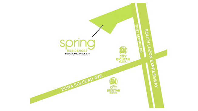 Spring Residences Location and Vicinity