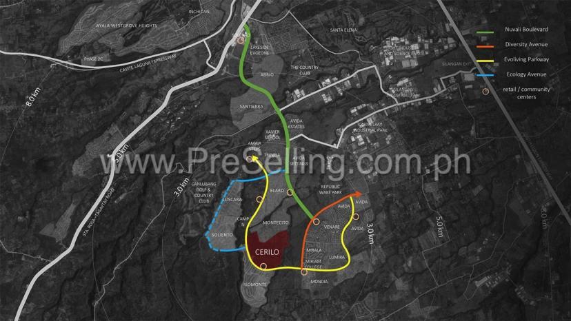 Cerilo Location Map