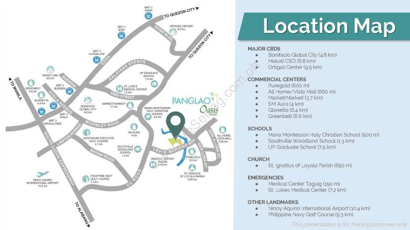 Panglao Oasis Filinvest Location and Vicinity