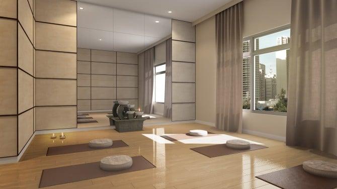 Aurora Escalades Yoga Room