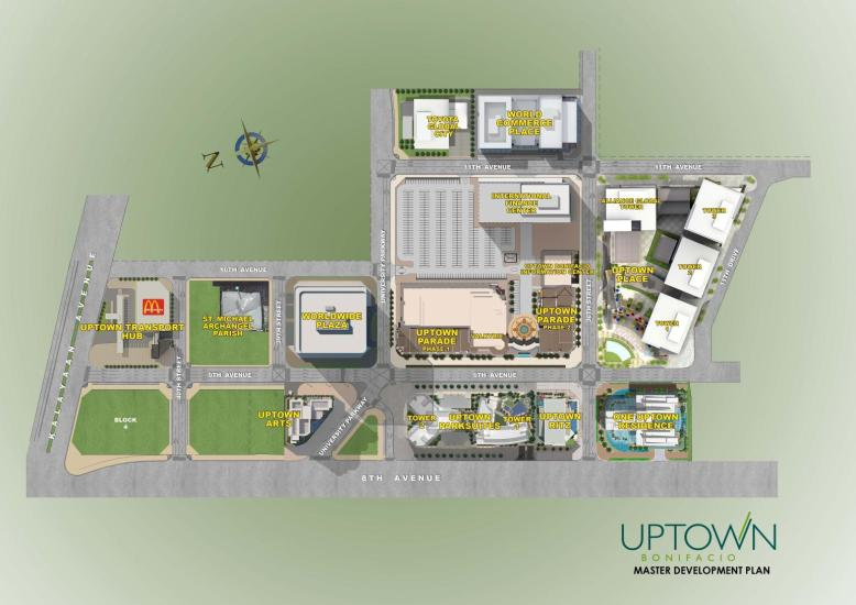 Uptown Arts Residence Location and Vicinity