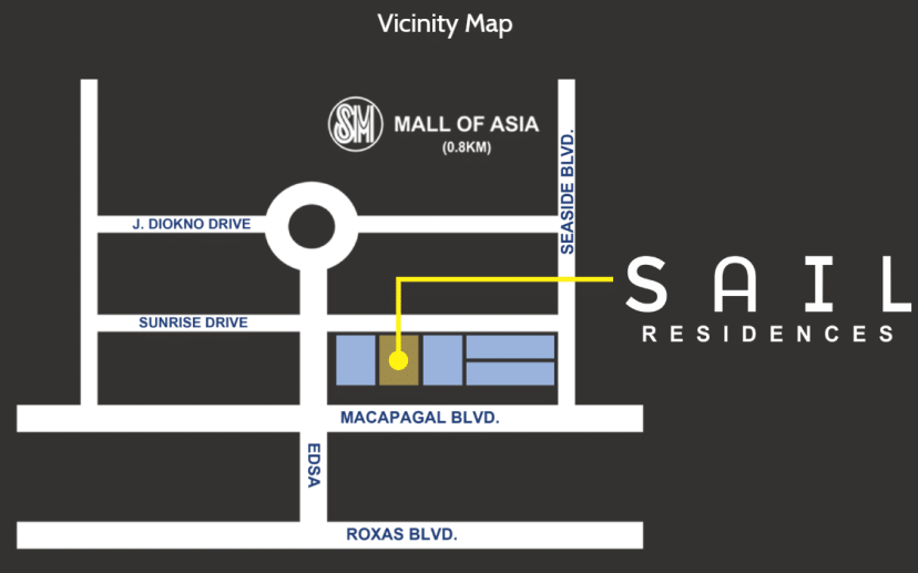 Sail Residences Location and Vicinity