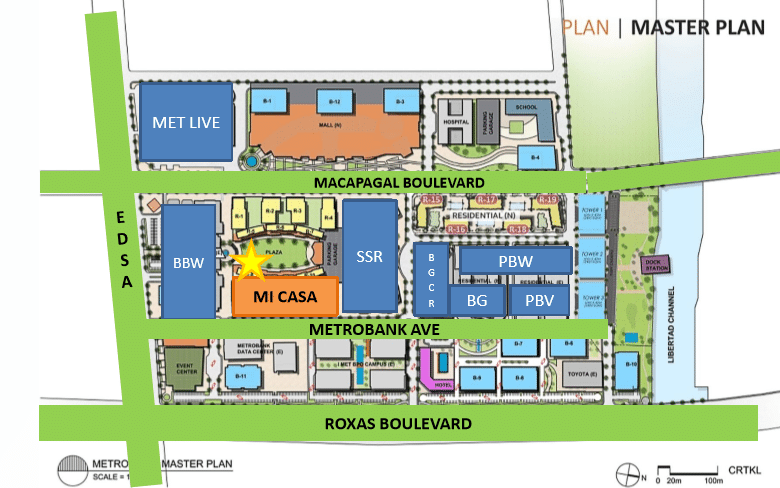 Location of Mi Casa at the Bay Area in Pasay