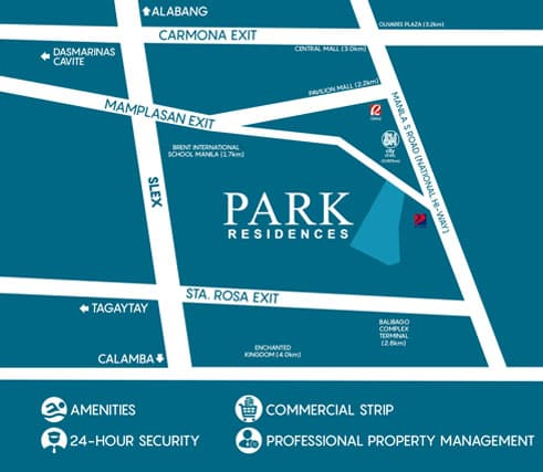 Park Residences Location and Vicinity