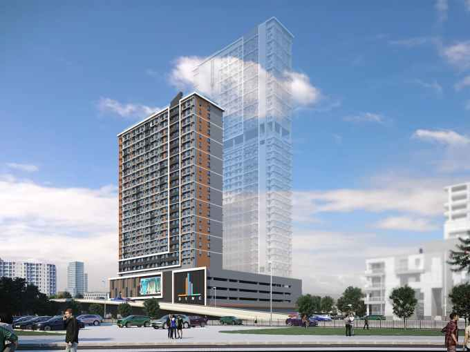 Sync by Robinsons Land in C5 Pasig Facade