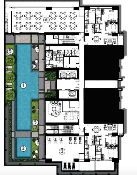 Mergent Residences Alveo Amenity Floor Plan