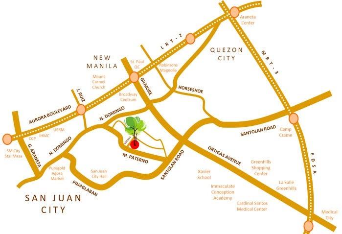 Mango Tree Residences Location and Vicinity Map
