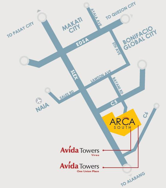 Avida Towers Vireo Location and Vicinity